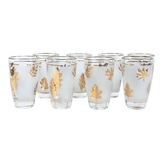 Set of Eight Vintage Cocktail Glasses by Libbey in Original Box For Sale