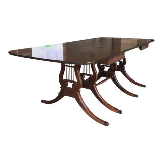 1950s Traditional Drexel Mahogany Dining Table For Sale