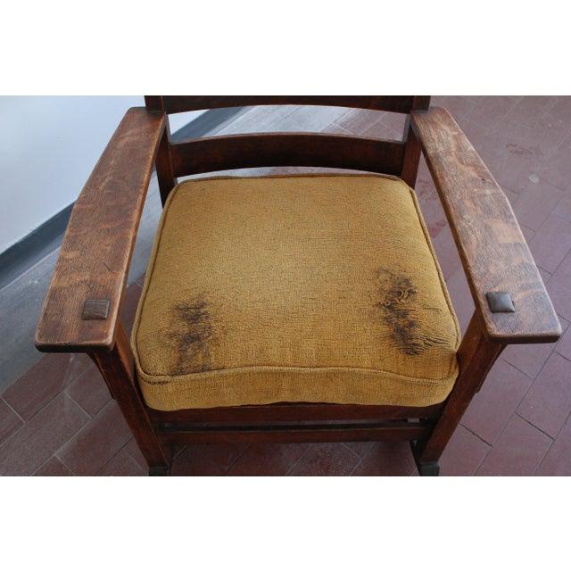 1900s Antique L & Jg Stickley Rocking Chair For Sale - Image 10 of 12