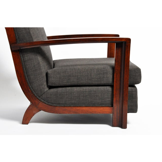 Hungarian Art Deco Solid Walnut Chair For Sale - Image 10 of 12
