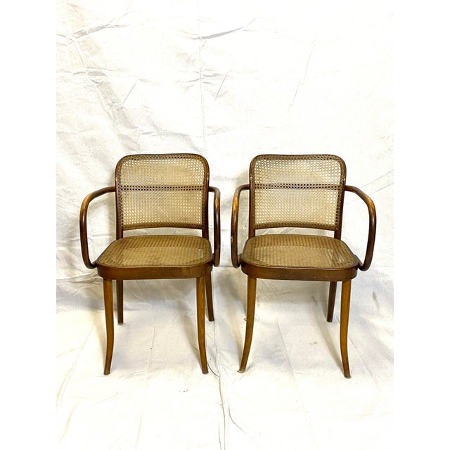 RARE Antique Stendig Set of 4 Bentwood French Stitched Nylon Cane Wood Dining Chairs Nice overall condition for age. No...
