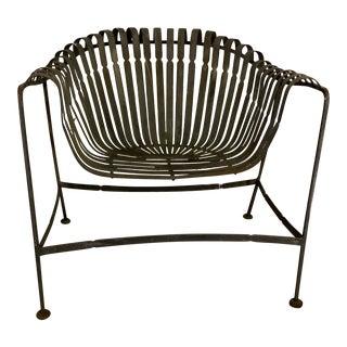 Russell Woodard Sculptura Strap Iron Garden Chair For Sale
