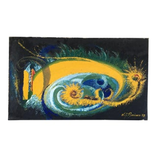1972 Modern Abstract Painting For Sale