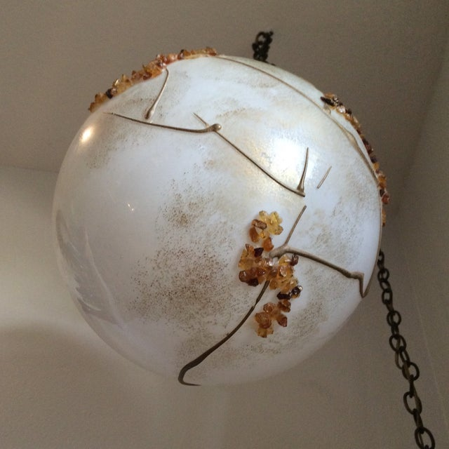 Mid-Century Globe Swag Lamp - Image 8 of 11