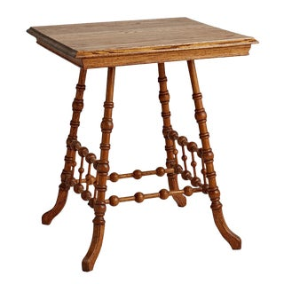Victorian Oak Stick & Ball Side Table Circa 1890