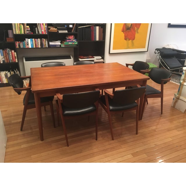 Brdr Furo Danish Dining Table & Kai Kristiansen Teak Chairs - Set of 8 For Sale In New York - Image 6 of 10