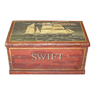 Vintage English Sea Chest For Sale