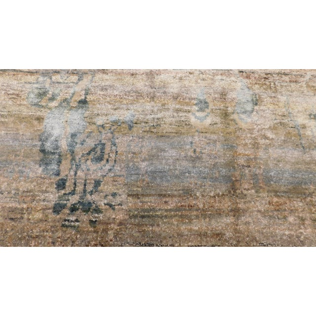 "Abstract Hand-Knotted Rug - 8′ × 9′11"" - Image 2 of 10"