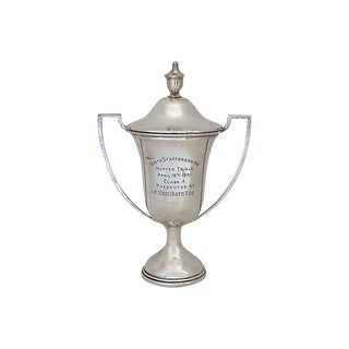 Antique English Sterling Hunting Trophy, D.1931 For Sale