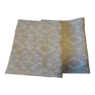 Pair of King Size Pendleton Quilted Pillow Cases For Sale