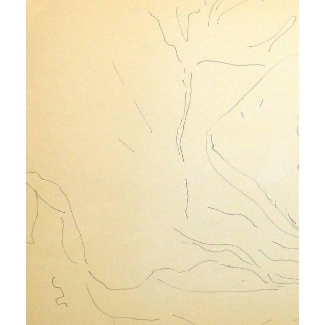 Illustration 1970s Illustration Pen & Ink Drawing, Cat in Sweet Slumber For Sale - Image 3 of 5