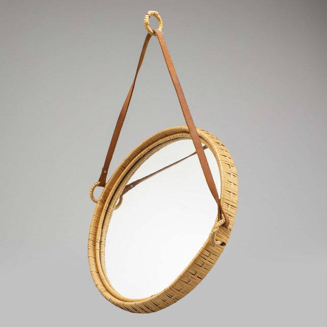 Mirror, Rattan, Sweden 1960s For Sale - Image 4 of 5