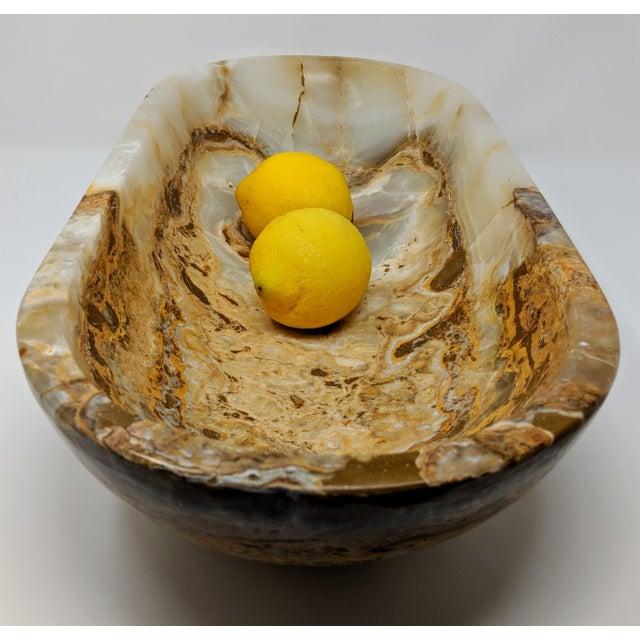 Organic Modern Onyx Decorative Bowl For Sale - Image 4 of 13