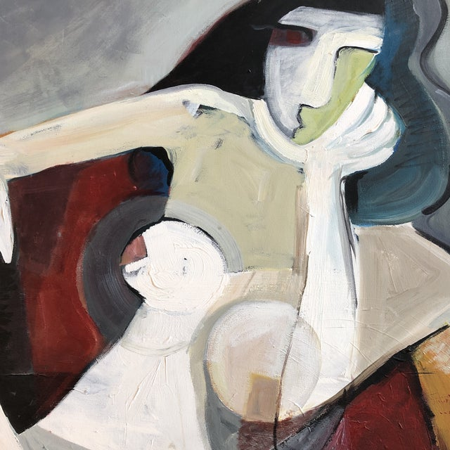 Contemporary Original Stewart Ross Female Nude Modernist Painting For Sale - Image 3 of 5