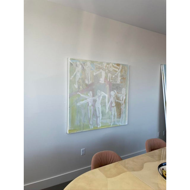 """""""Adam and Eves"""" Contemporary Abstract Expressionist Oil Painting For Sale In Boston - Image 6 of 7"""