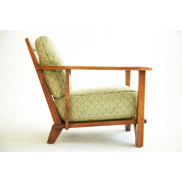 1930s Herman DeVries Paddle-Arm Lounge Chair For Sale - Image 5 of 10
