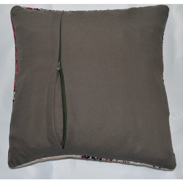 Hand Woven Silk Kilim Rug Pillow Cover - Image 5 of 5