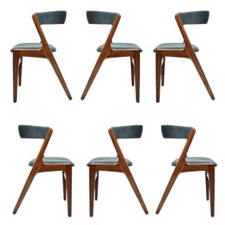 1960s Vintage Kai Kristensen Dining Chairs - Set of 6 For Sale