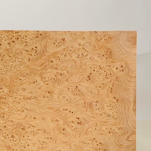 Minimalist 'Amboine' Burl Wood Nightstands by Design Frères - a Pair For Sale - Image 9 of 12