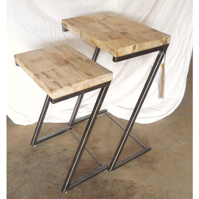 Bernhardt Petrified Wood Nesting Tables - A Pair - Image 3 of 9