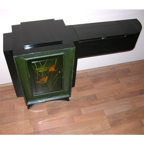 Art Deco French Art Deco Low Cabinet by René Drouet and Gaston Suisse For Sale - Image 3 of 8