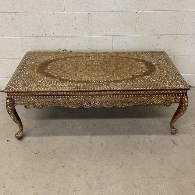 Anglo Indian Bone Inlay Coffee Table For Sale - Image 13 of 13