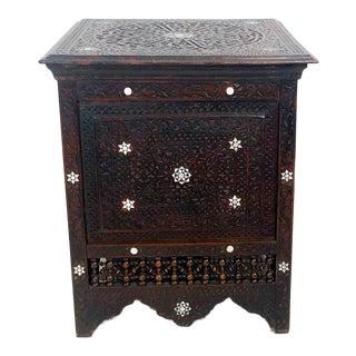 Inlaid Square Table, Morocco Circa 1880 For Sale