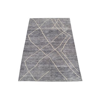 Vintage Tribal All Wool Moroccan - 6′6″ × 10′1″ For Sale
