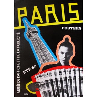 "1982 Razzia French ""Paris Posters"" Exhibition Poster For Sale"