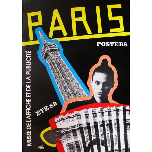 """1982 Razzia French """"Paris Posters"""" Exhibition Poster For Sale"""