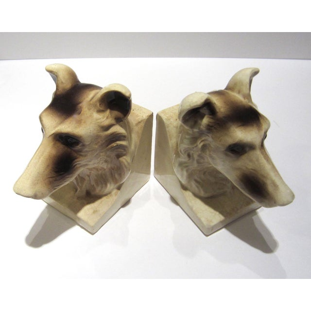 1950s Vintage Ceramic Dog Bookends - A Pair For Sale In Nashville - Image 6 of 13
