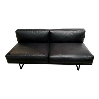 Pierre Jeanneret and Charlotte Perriand for Le Corbusier Lc5 Black Leather Sofa For Sale
