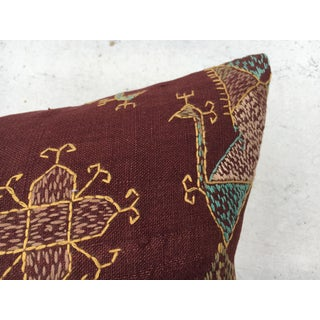 Antique Embroidered Indian Textile Pillow Preview