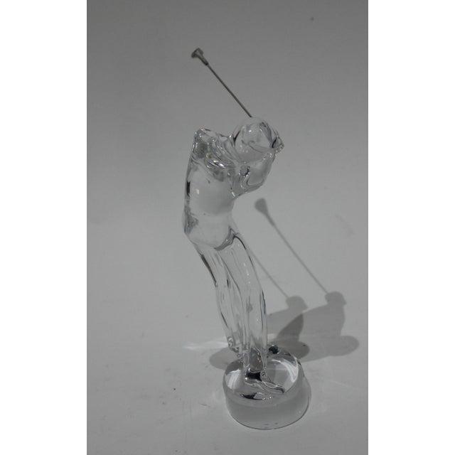 Baccarat Baccarat Crystal Golfer Figurine For Sale - Image 4 of 9