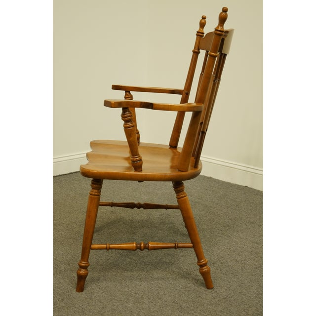 Tell City Maple Colonial Cattail Back Arm Chair For Sale In Kansas City - Image 6 of 9