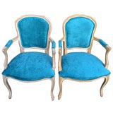 Image of French Bergere Chairs - a Pair For Sale