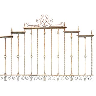 Heavy Gauge Cast & Wrought Iron Fence Sections - a Pair