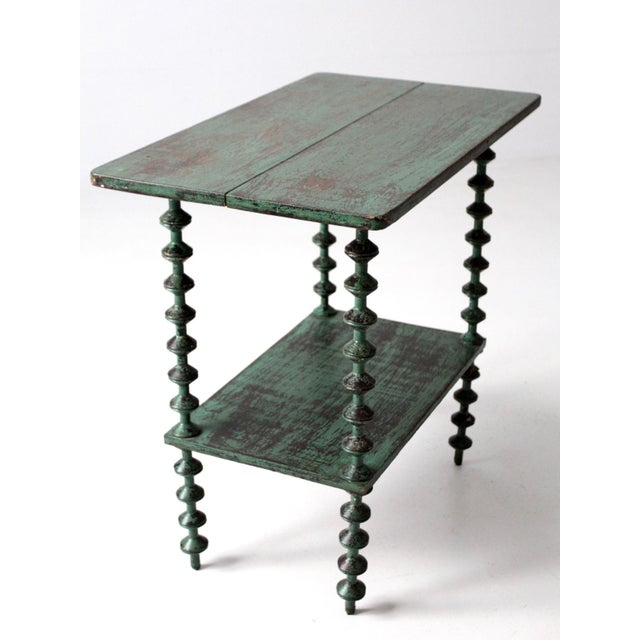 Late 19th Century Antique Folk Art Spool Table For Sale - Image 5 of 9