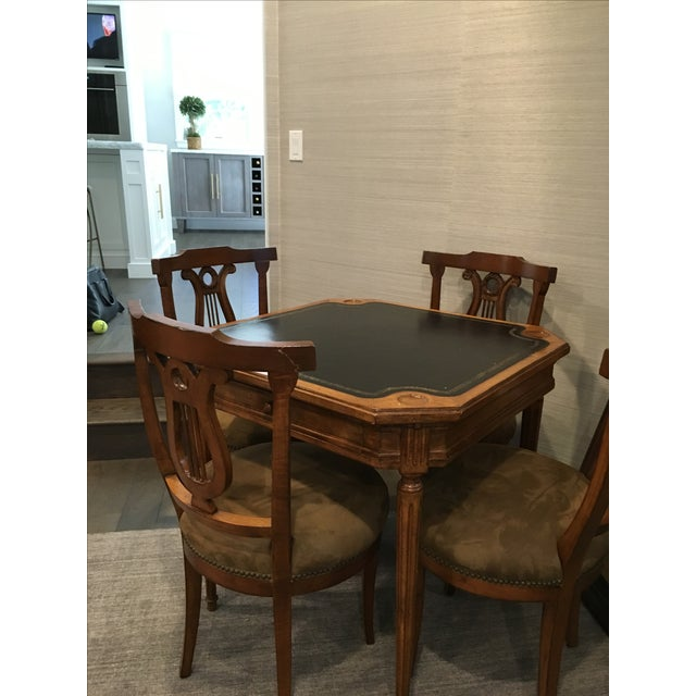 Antique Game Table and Chairs - Set of 5 For Sale - Image 4 of 8