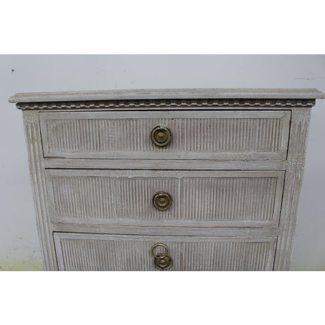 Gold 20th Century Vintage Swedish Gustavian Style Nightstands-A Pair For Sale - Image 8 of 11
