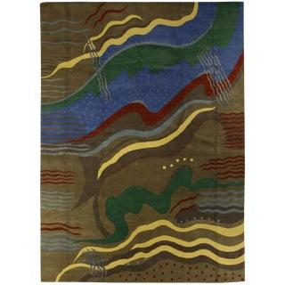 Contemporary Tibetan Woolen Rug - 14' X 10'ft For Sale