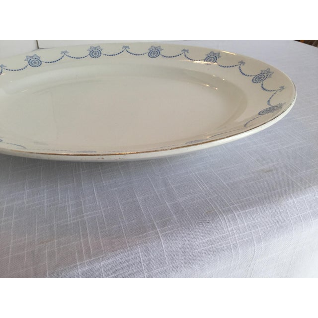 White Blue & White Oval Imperial Porcelain Platter For Sale - Image 8 of 13