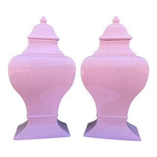 1980s Jaru Lidded Ceramic Jars - a Pair For Sale