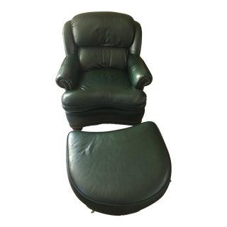 Hancock & Moore Club Chair & Ottoman