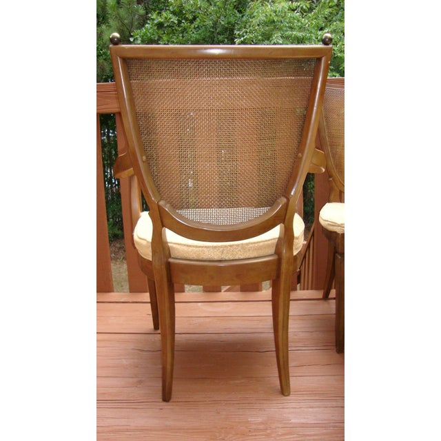 Thomasville Italian Cane Brass Dining Chairs - 6 - Image 6 of 11