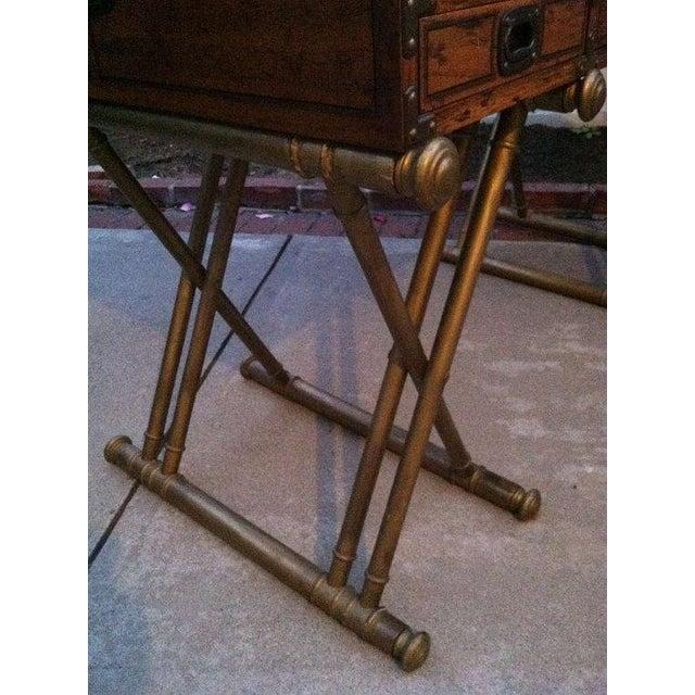 Drexel Drexel Mid Century Modern Roll Top Desk For Sale - Image 4 of 5