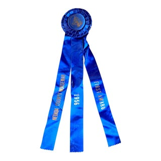 1956 First Place Ribbon, Vintage Horse Equestrian Award For Sale