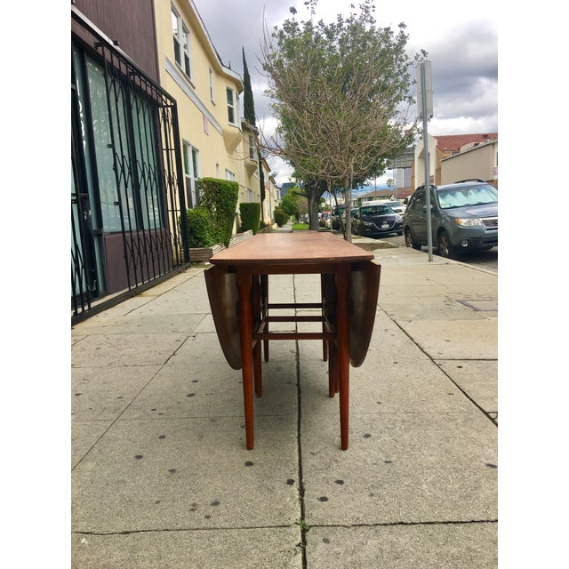 Mid-Century Drop Leaf Dining Table - Image 6 of 10
