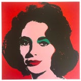 """Image of Andy Warhol Estate Rare Vintage 1989 Collector's Iconic Pop Art Lithograph Print """" Liz """" 1964 For Sale"""