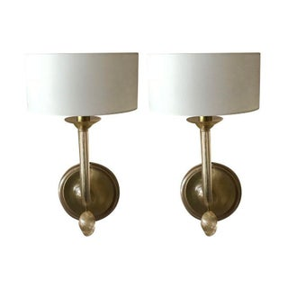 BakerFurniture's Perla Sconces - a Pair For Sale